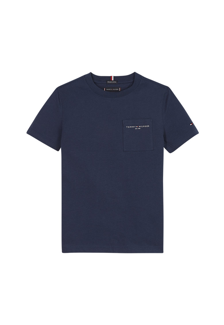 Tricou de bumbac organic cu logo z imagine fashiondays.ro Tommy Hilfiger