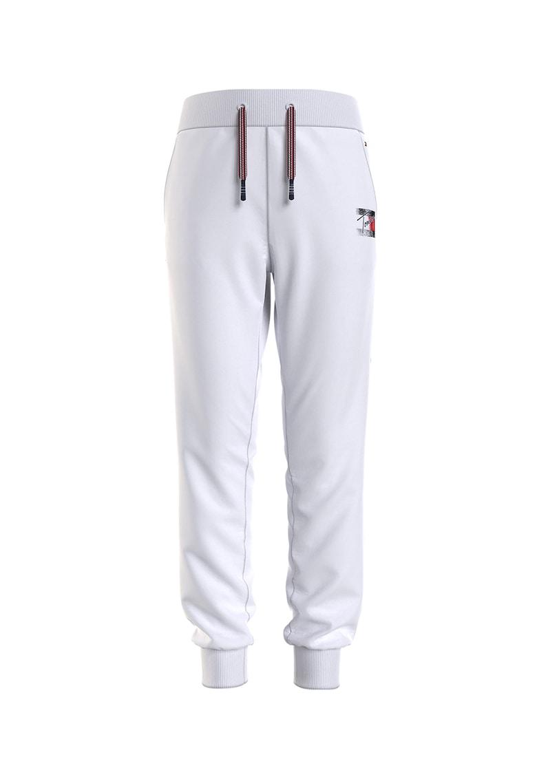 Tommy Hilfiger Pantaloni jogger cu croiala conica si snur de ajustare in talie