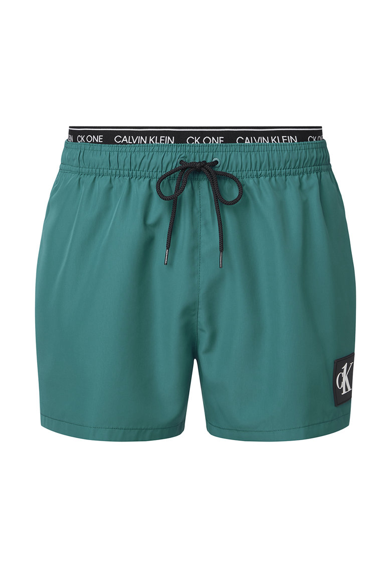 Pantaloni scurti de baie cu banda logo in talie poza fashiondays