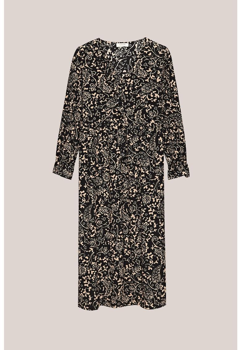 Rochie midi cu imprimeu Paisley poza fashiondays