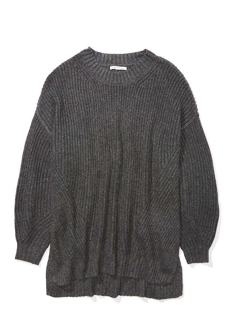 Pulover tricotat fin cu maneci cazute imagine fashiondays.ro 2021