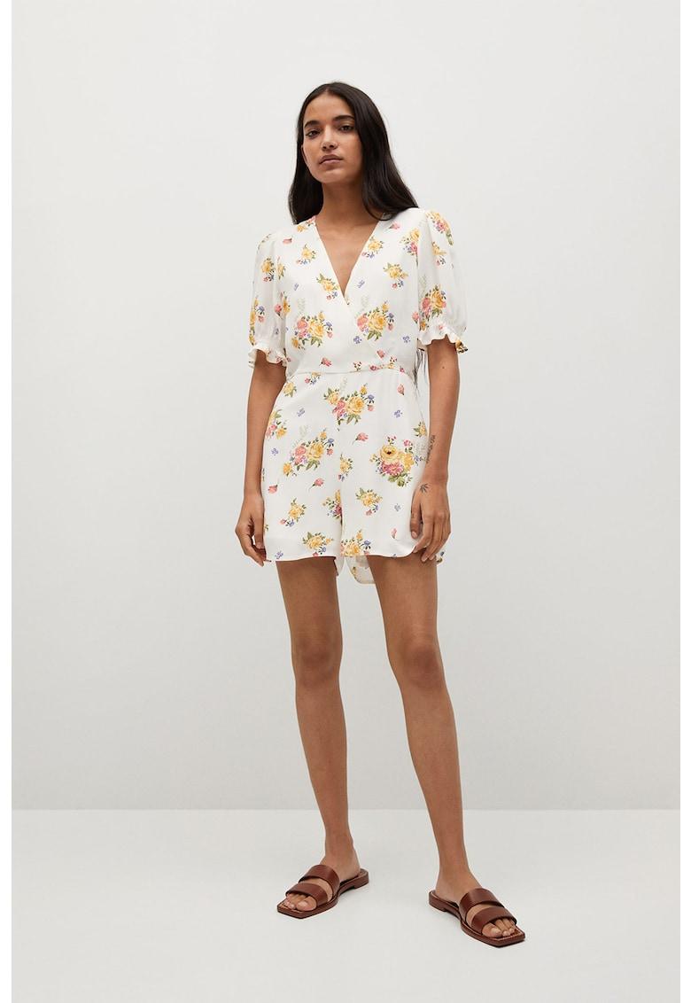 Salopeta scurta cu model floral Shirty