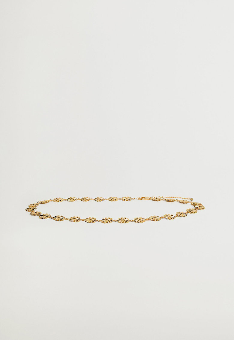 Curea din lant cu model floral Winnie imagine fashiondays.ro