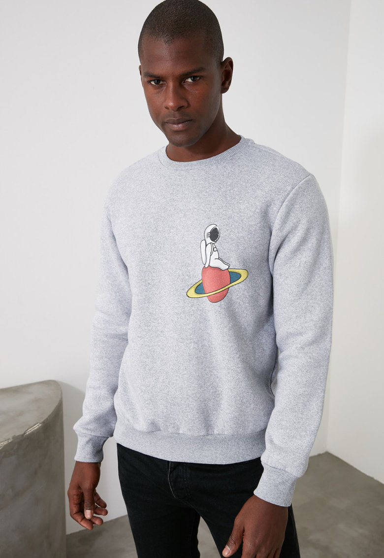 Bluza sport cu imprimeu pe spate
