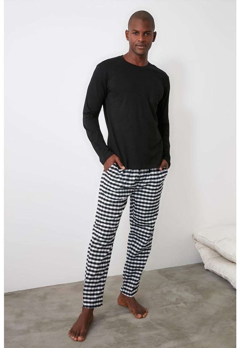 Pijama lunga de bumbac