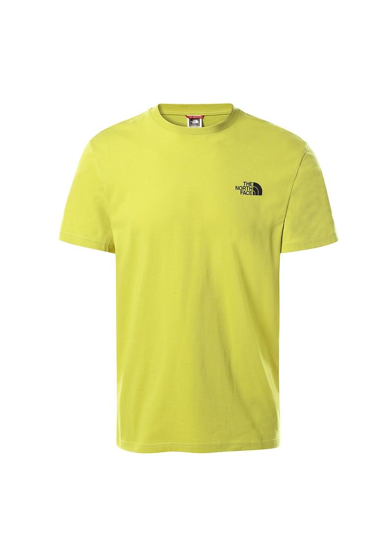 Tricou cu decolteu la baza gatului si logo Simple Dome imagine