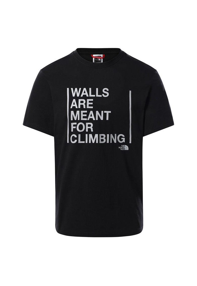 Tricou cu decolteu la baza gatului Walls Are Meant For Climbing imagine