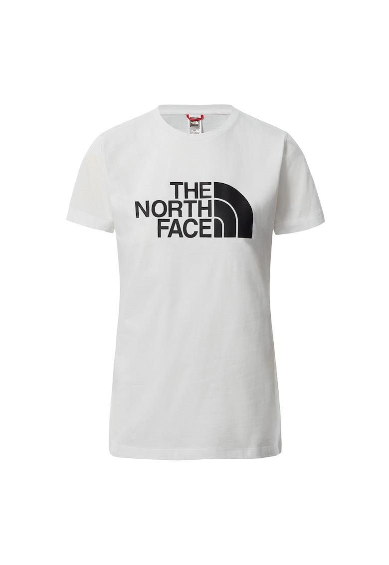Tricou cu decolteu la baza gatului si imprimeu logo Easy imagine fashiondays.ro