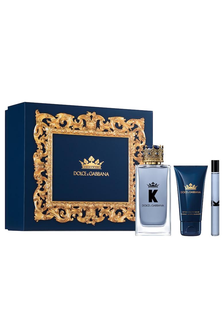 Dolce  Gabbana Set  K - Barbati: Apa de Toaleta - 100 ml + After Shave Balsam - 50 ml + Apa de Toaleta - 10 ml