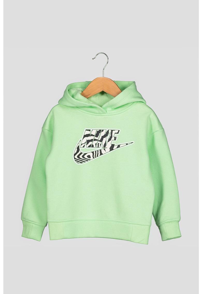 Hanorac cu maneci cazute si logo Electric Zebra imagine fashiondays.ro Nike