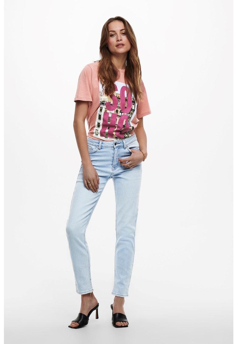 Blugi drepti cu aspect decolorat imagine fashiondays.ro Only