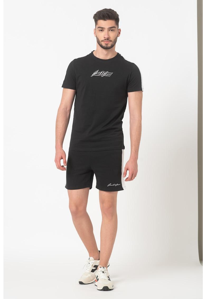 Set de tricou si pantaloni scurti cu logo Ombre fashiondays.ro