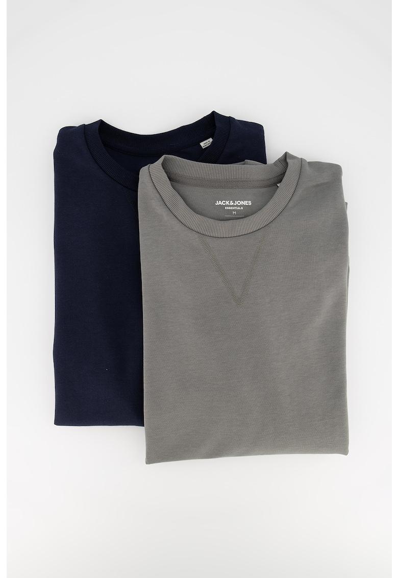 Set de bluze sport cu decolteu la baza gatului - 2 piese imagine fashiondays.ro Jack&Jones
