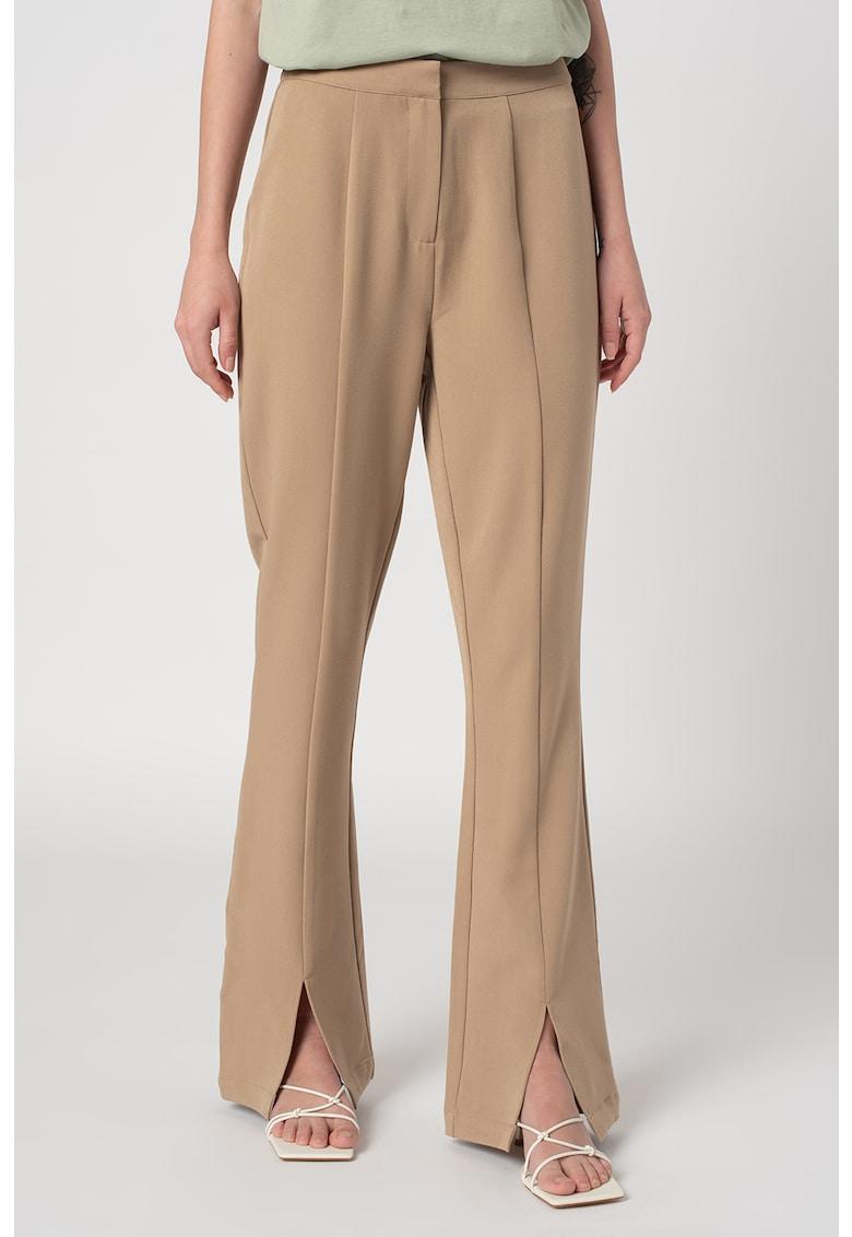 Pantaloni evazati cu slituri frontale Ivy