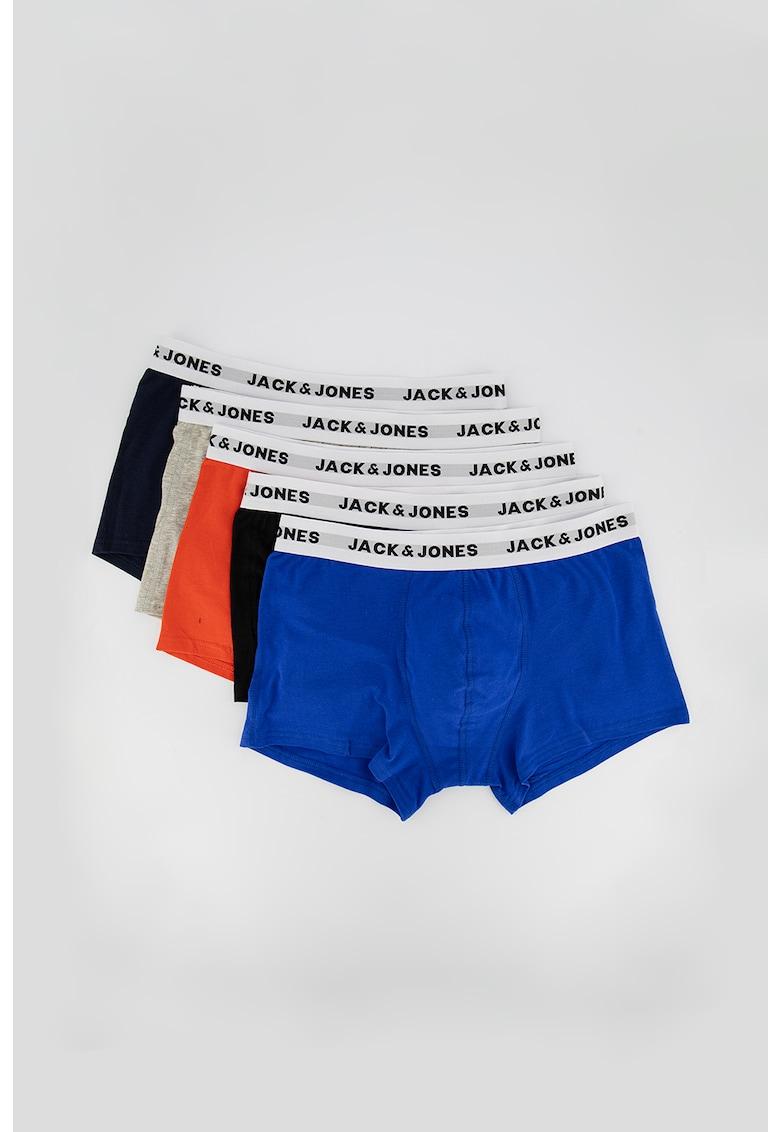 Set de boxeri cu banda cu logo in talie - 5 perechi de la JackJones