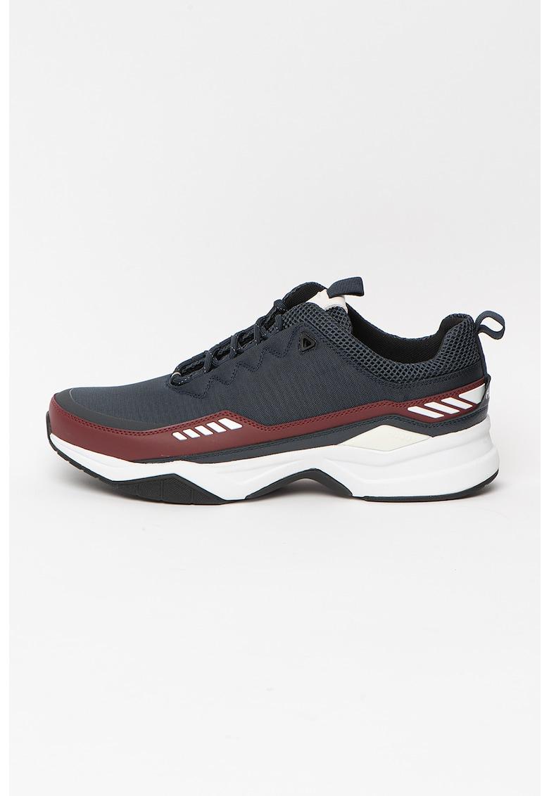 Pantofi sport cu insertii de piele peliculizata Block Runn