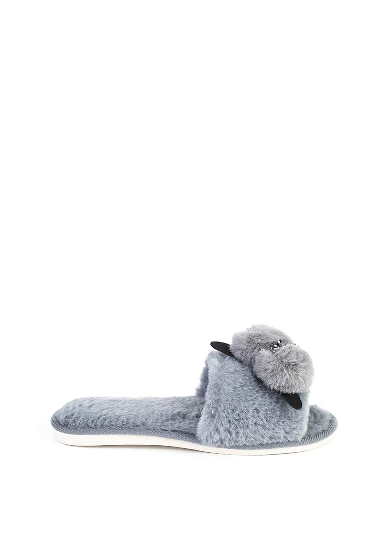 Papuci cu aplicatii cu pisica imagine fashiondays.ro Funky Steps