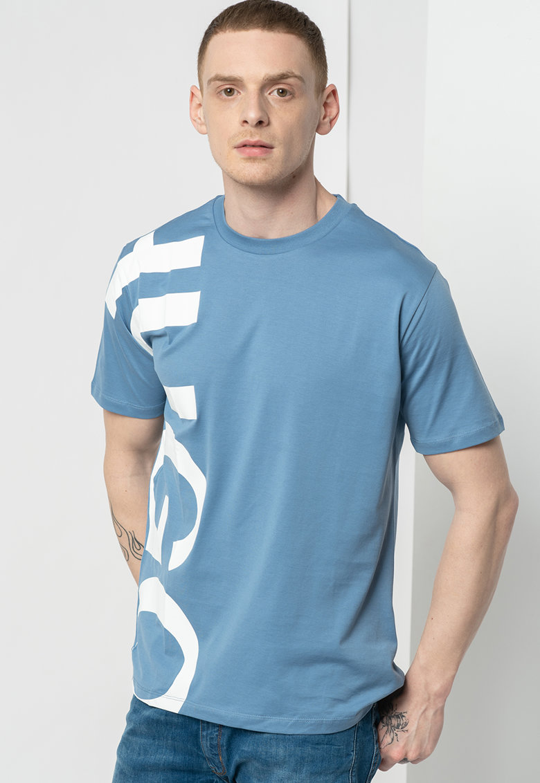 Tricou cu imprimeu logo supradimensionat Dawe fashiondays.ro