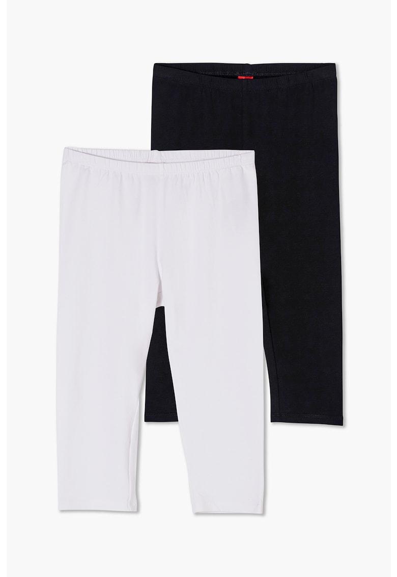 Set de colanti de jerseu cu banda elastica in talie - 2 perechi poza fashiondays
