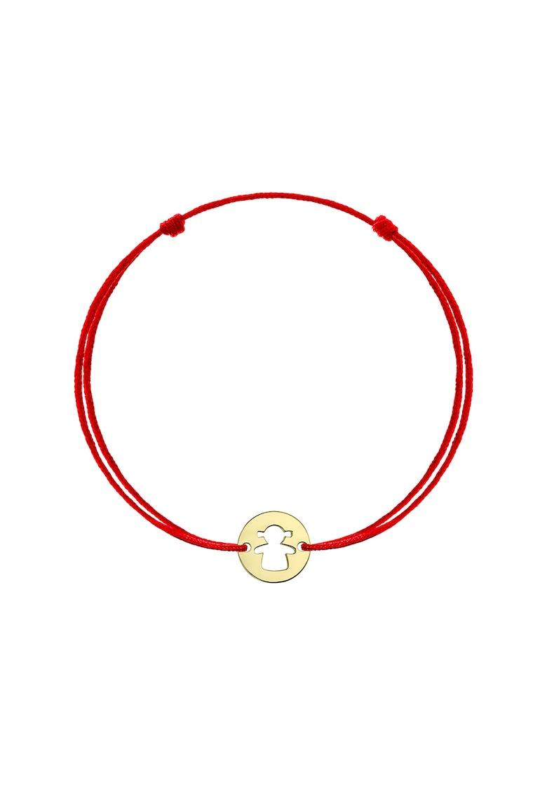 Bratara cu snur de ajustare si talisman din aur de 14K poza fashiondays
