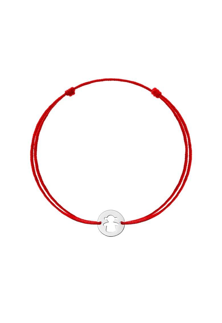 Bratara cu snur de ajustare si talisman din aur de 14K imagine fashiondays.ro Zea et Sia