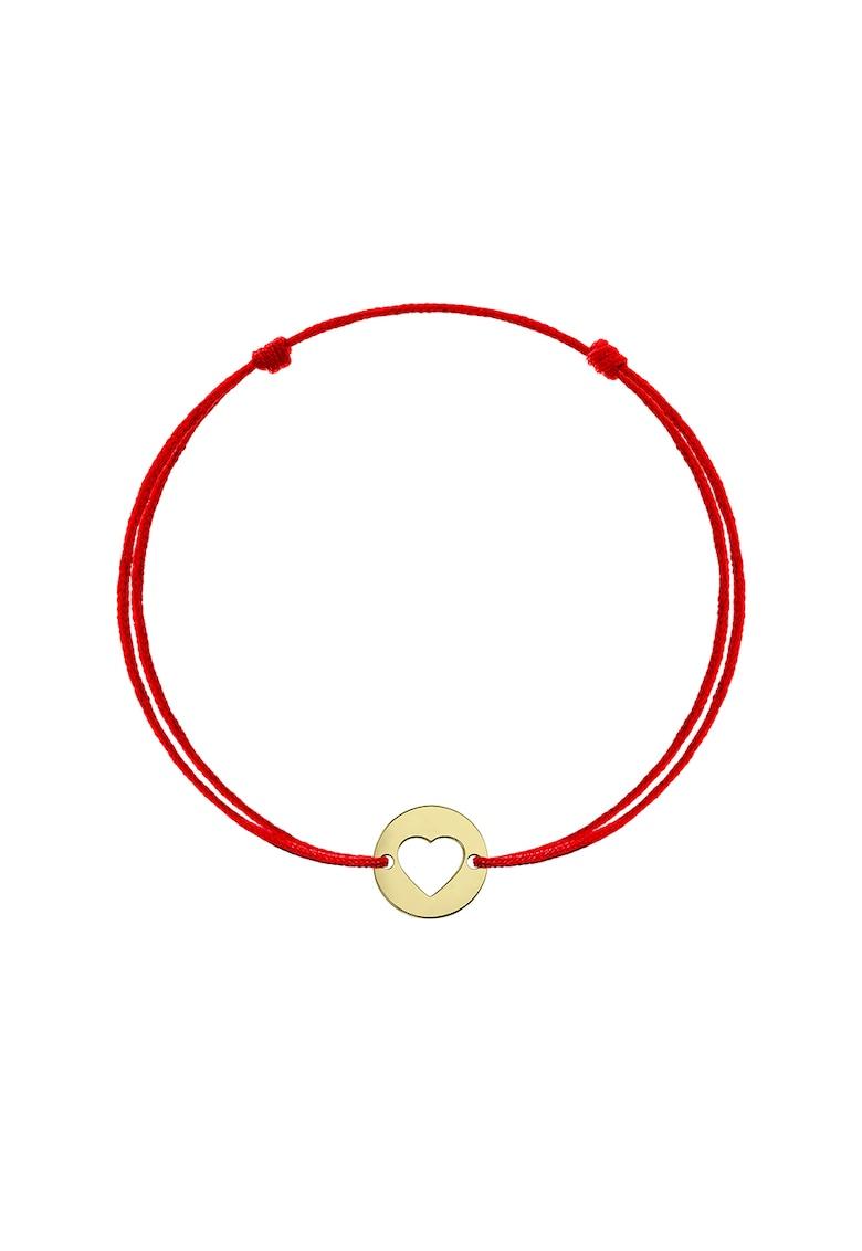 Bratara tip snur cu talisman in forma de inima din aur de 14K imagine fashiondays.ro Zea et Sia