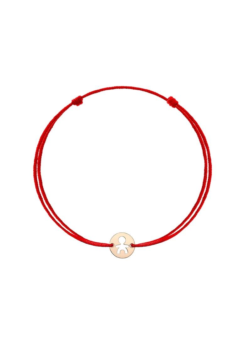Bratara tip snur cu talisman din aur de 14K imagine fashiondays.ro Zea et Sia