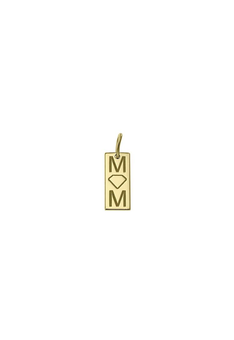 Pandantiv din aur de 14K cu motiv text imagine fashiondays.ro Zea et Sia