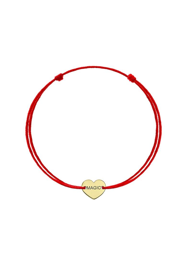 Bratara din lant cu talisman din aur de 14K in forma de inima imagine fashiondays.ro Zea et Sia