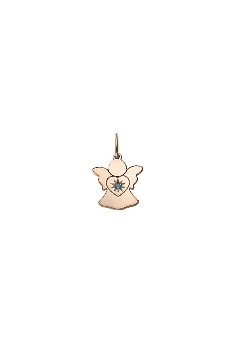Pandantiv din aur de 14K in forma de inger si decorat cu 1 diamant imagine fashiondays.ro Zea et Sia