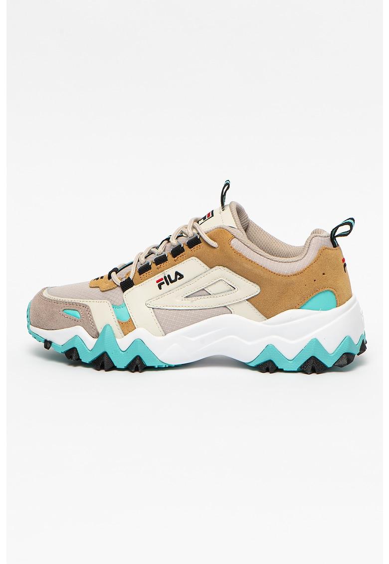 Pantofi sport cu aspect masiv si insertii din piele intoarsa Trail