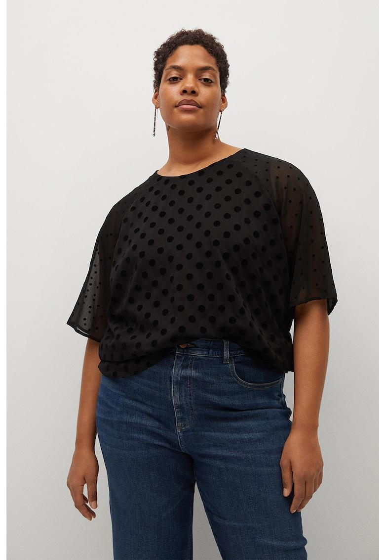 Bluza texturata cu buline Plumeti de la VIOLETA BY MANGO