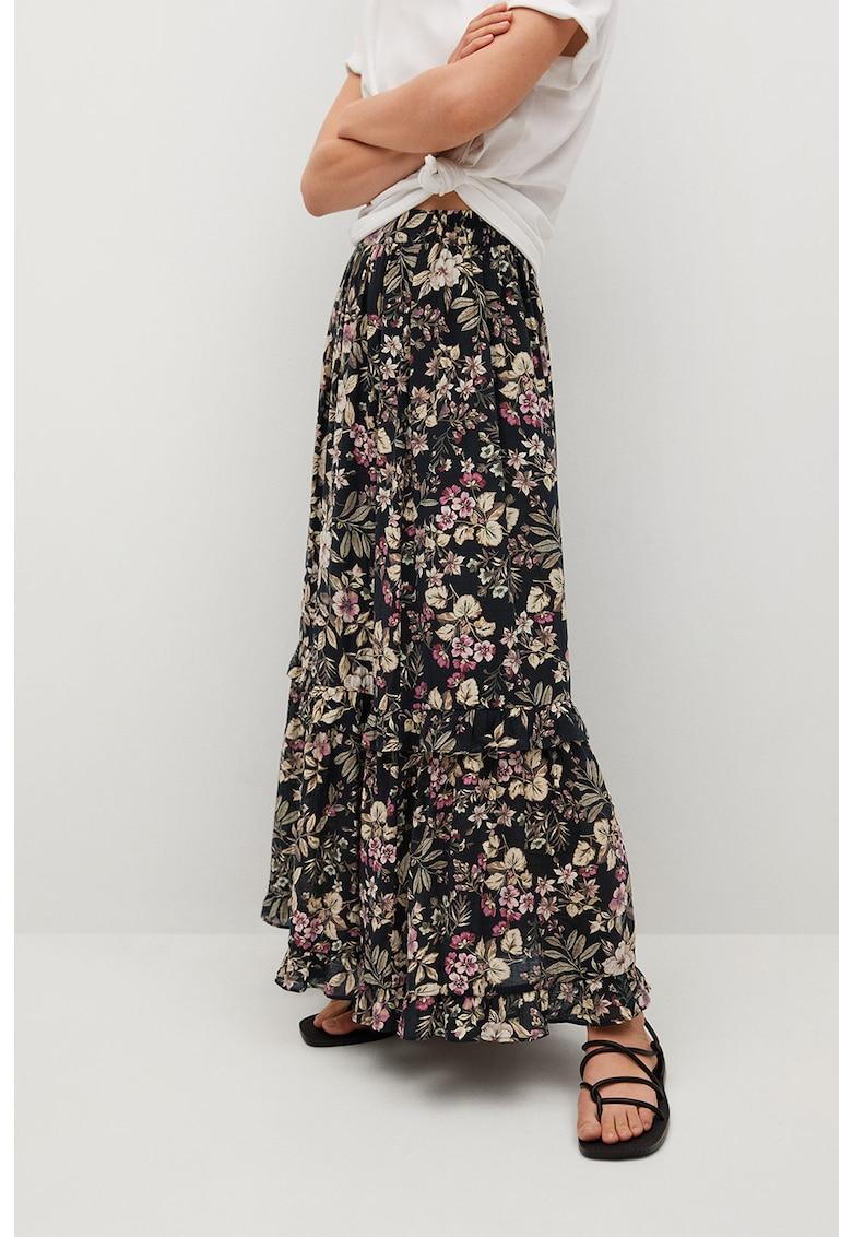 Fusta maxi cu model floral Farm Mango fashiondays.ro