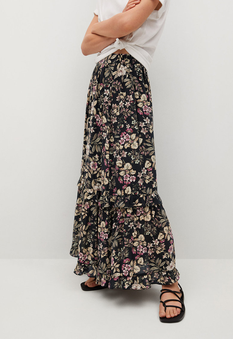 Fusta maxi cu model floral Farm poza fashiondays