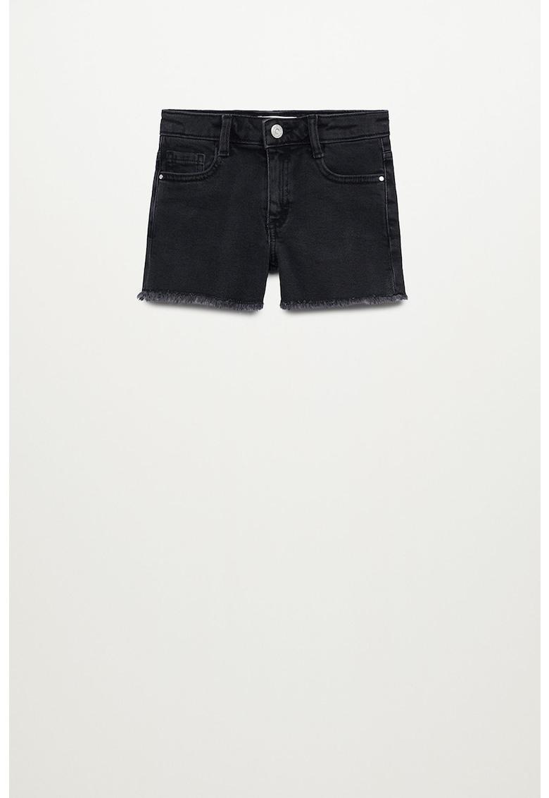 Pantaloni scurti de denim cu margini nefinisate Isabel imagine fashiondays.ro 2021