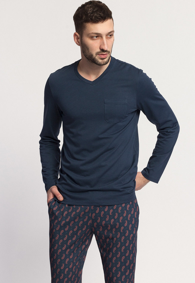 Pijama din amestec de modal - cu imprimeu grafic Francis poza fashiondays
