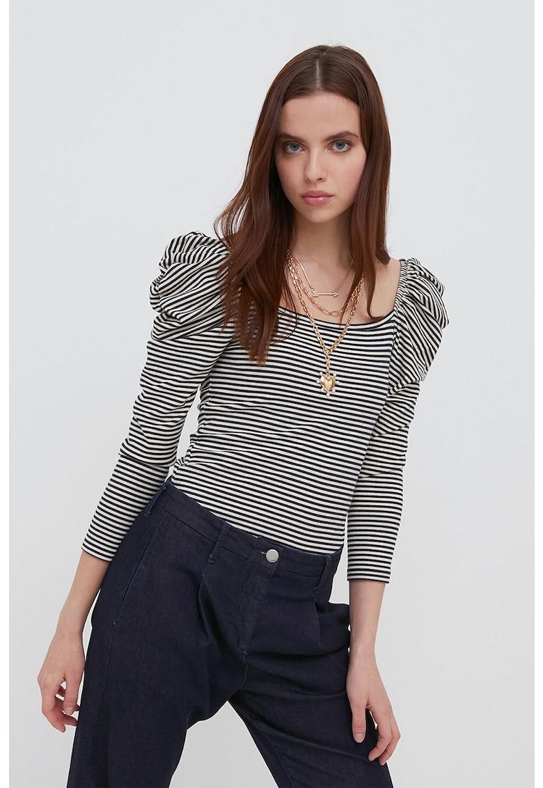 Bluza cu dungi si maneci Juliet G022W080TT