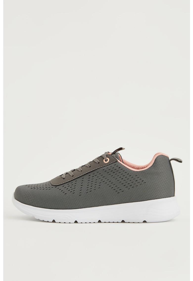 Pantofi sport de plasa cu aspect tricotat imagine fashiondays.ro