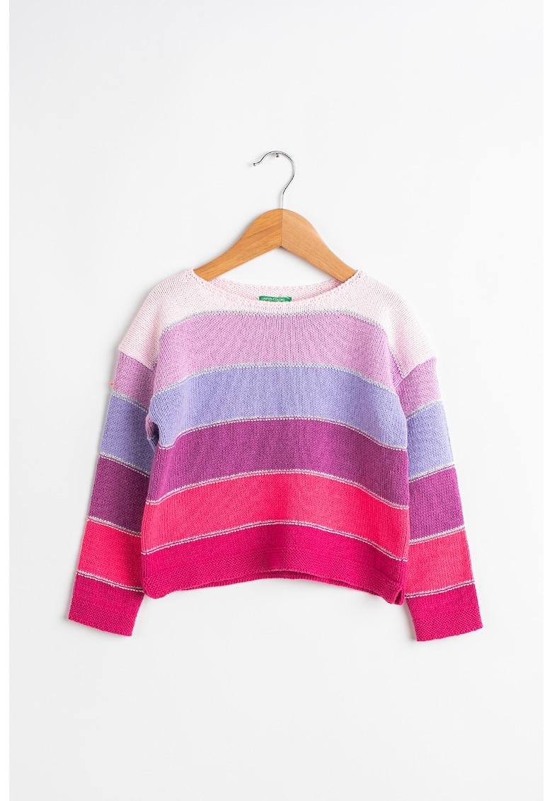 Pulover cu model colorblock poza fashiondays