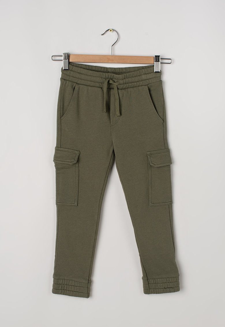 United Colors of Benetton Pantaloni sport cargo cu snur de ajustare