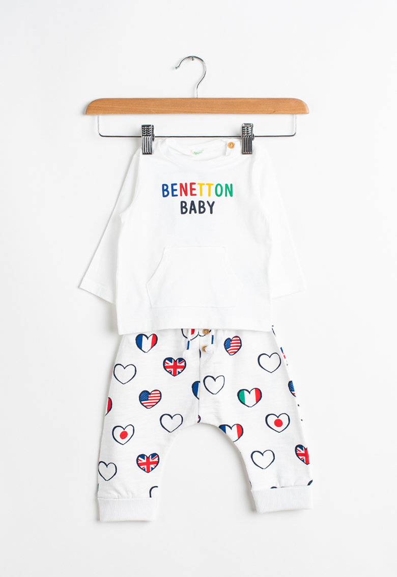 Set de bluza si pantaloni sport cu imprimeu - 2 piese imagine fashiondays.ro