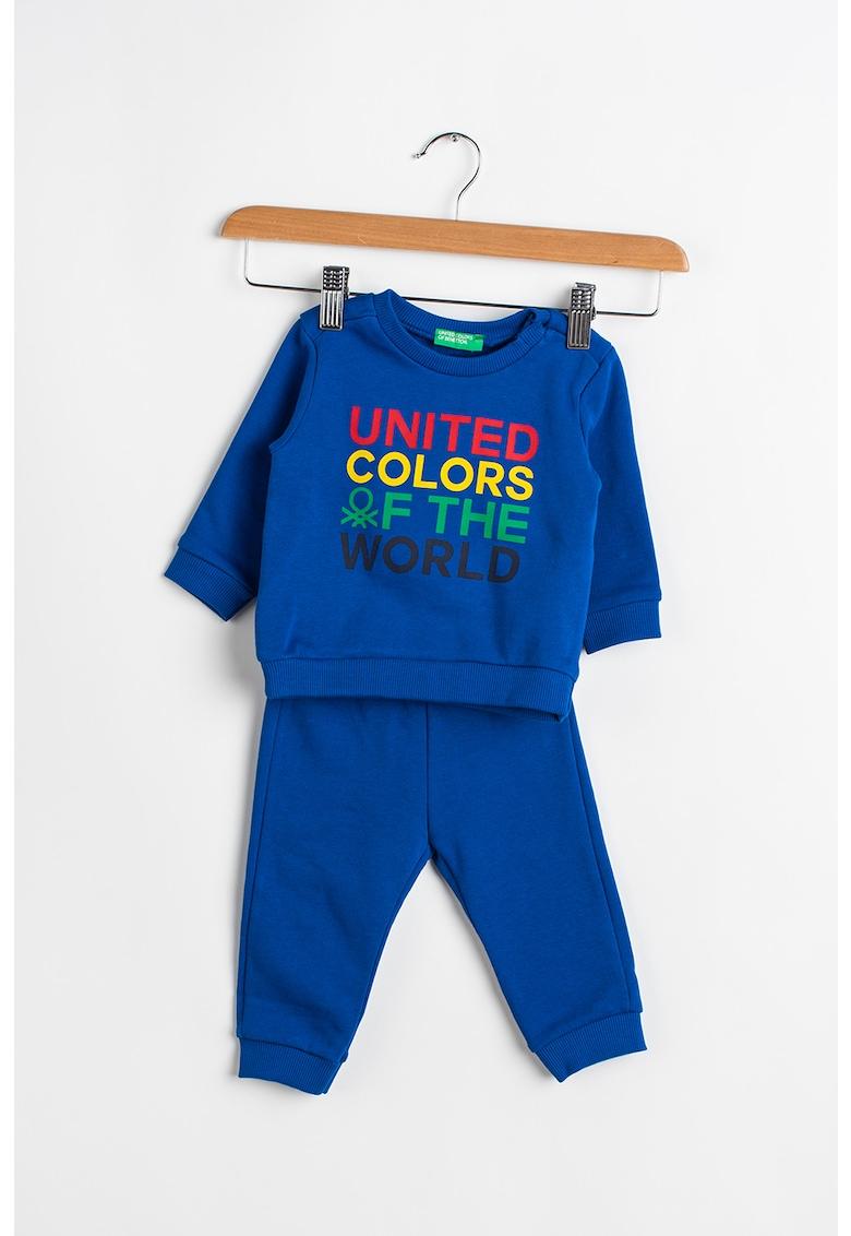Set de bluza si pantaloni sport cu imprimeu - 2 piese poza fashiondays
