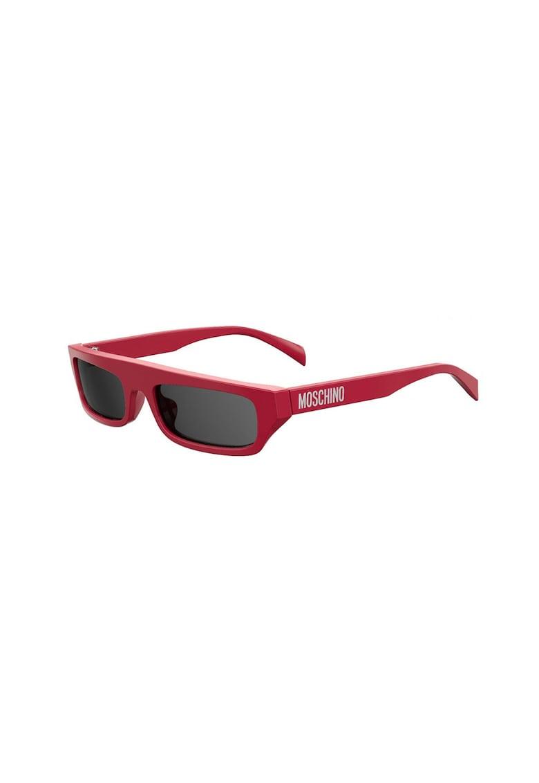 Ochelari de soare dreptunghiulari cu lentile uni imagine fashiondays.ro 2021