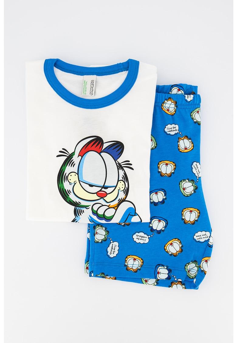 Pijama cu maneci scurte si model Garfield imagine fashiondays.ro 2021