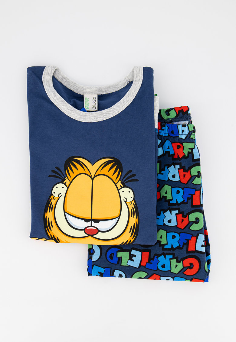 Pijama cu maneci lungi si model Garfield imagine fashiondays.ro 2021