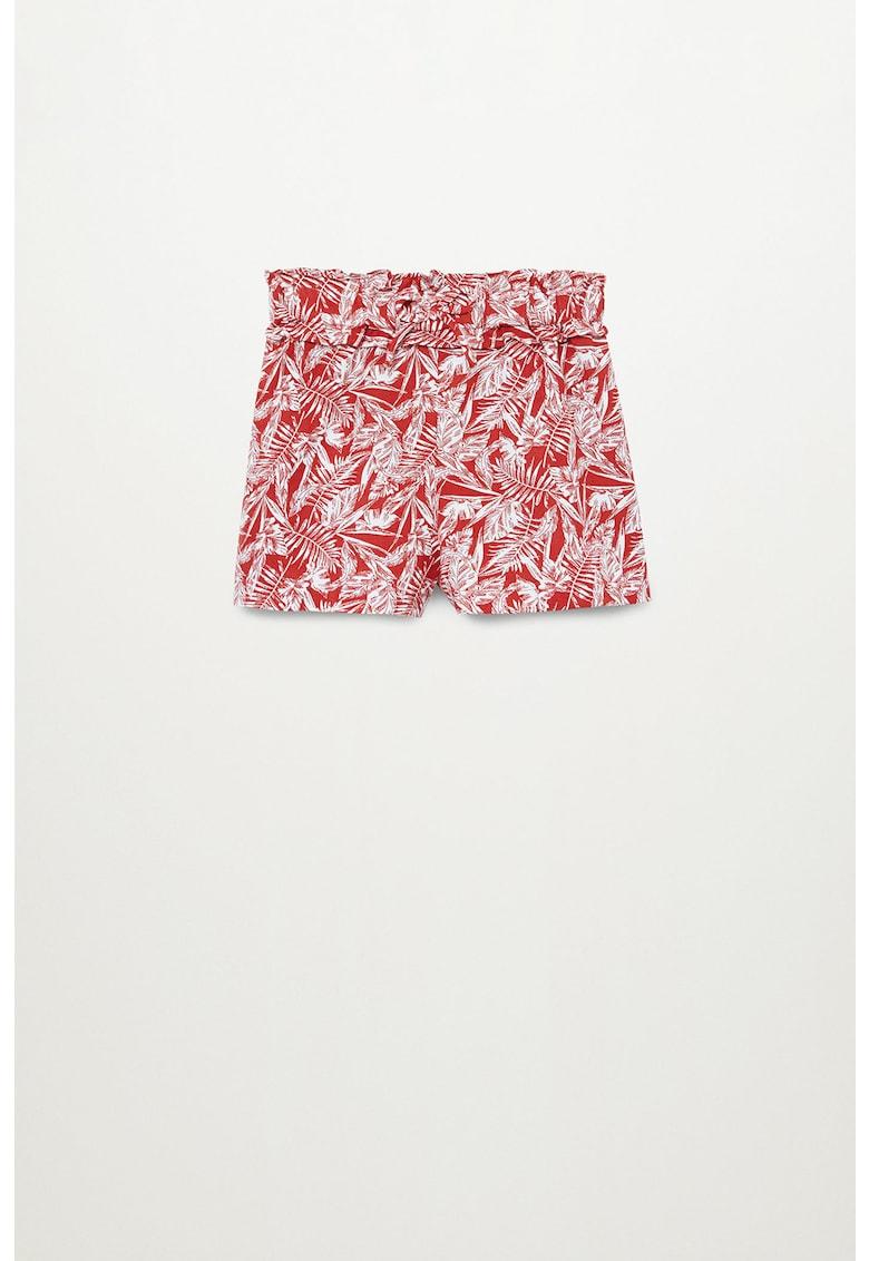 Pantaloni scurti de bumbac cu imprimeu tropical Didi imagine fashiondays.ro 2021