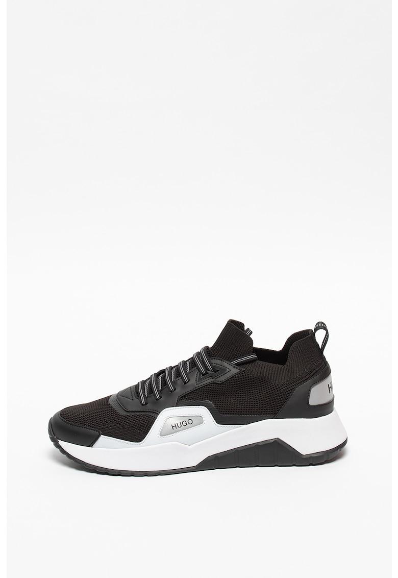 Pantofi sport de plasa cu model soseta Atom
