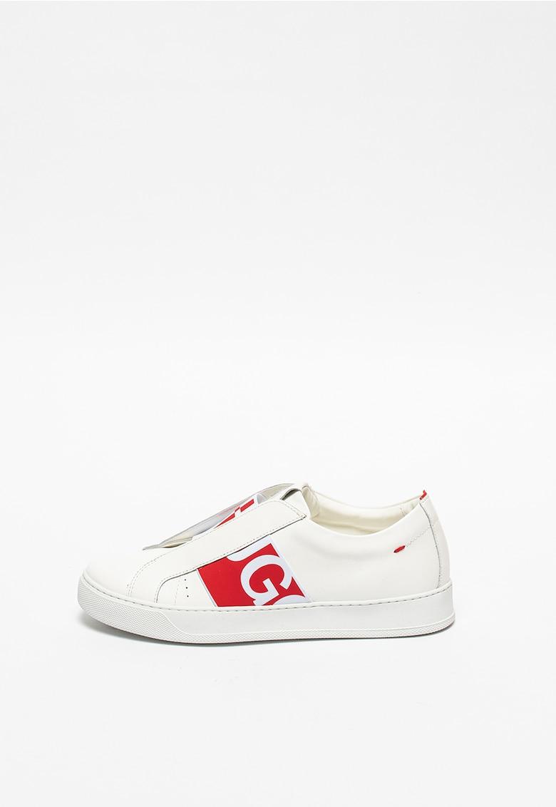 Pantofi sport slip-on elastici din piele Futurism imagine fashiondays.ro 2021