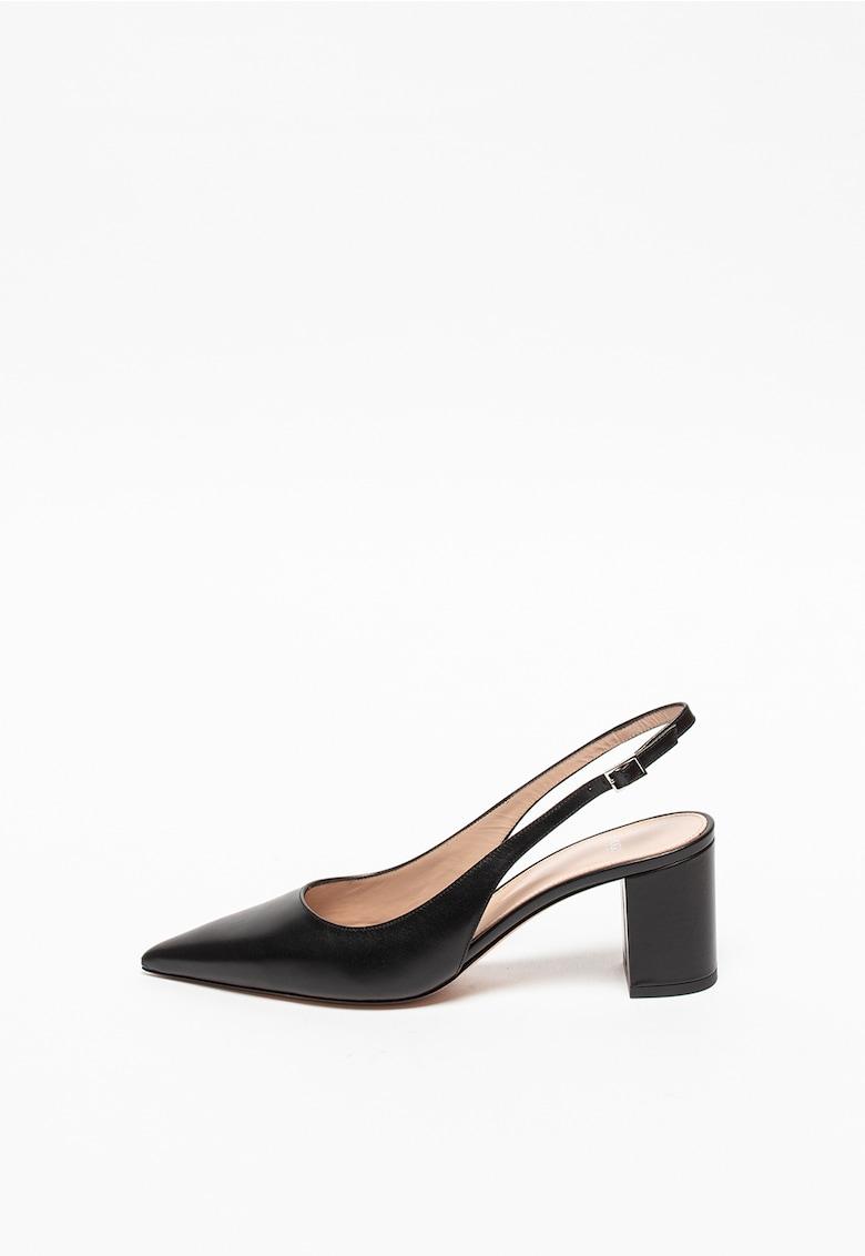 Pantofi slingback din piele Ines