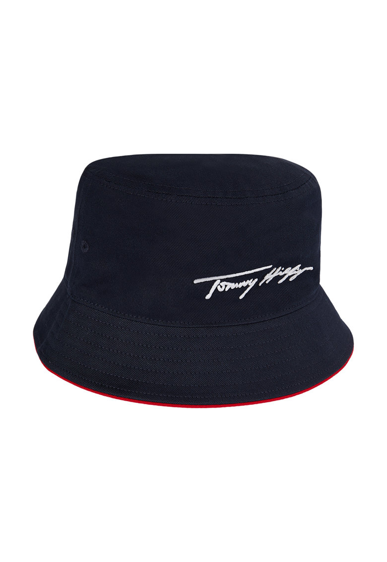 Tommy Jeans - Palarie bucket de bumbac organic cu logo brodat